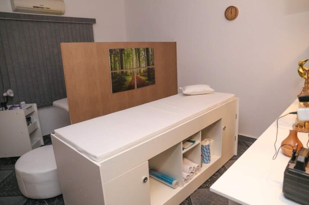 Sala onde funciona o spa, depilação e outros procedimentos. (Foto: Paulo Francis)