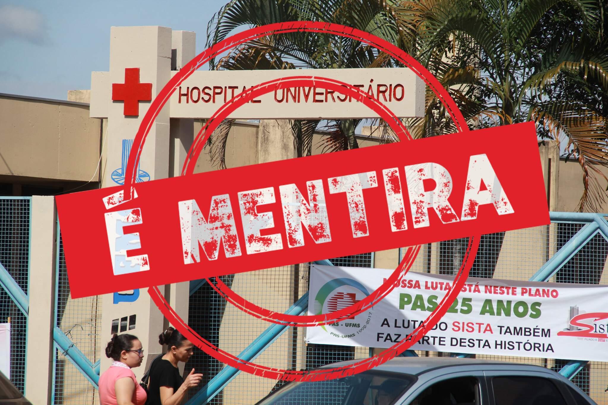 Assessoria desmentiu ocorrência de coronavírus no HU (Foto/Arquivo)