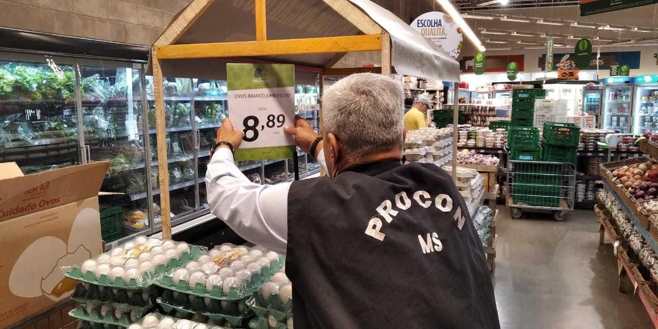 Preço da cartela de ovos é alterado por representante do Procon (Foto: Divulgação)