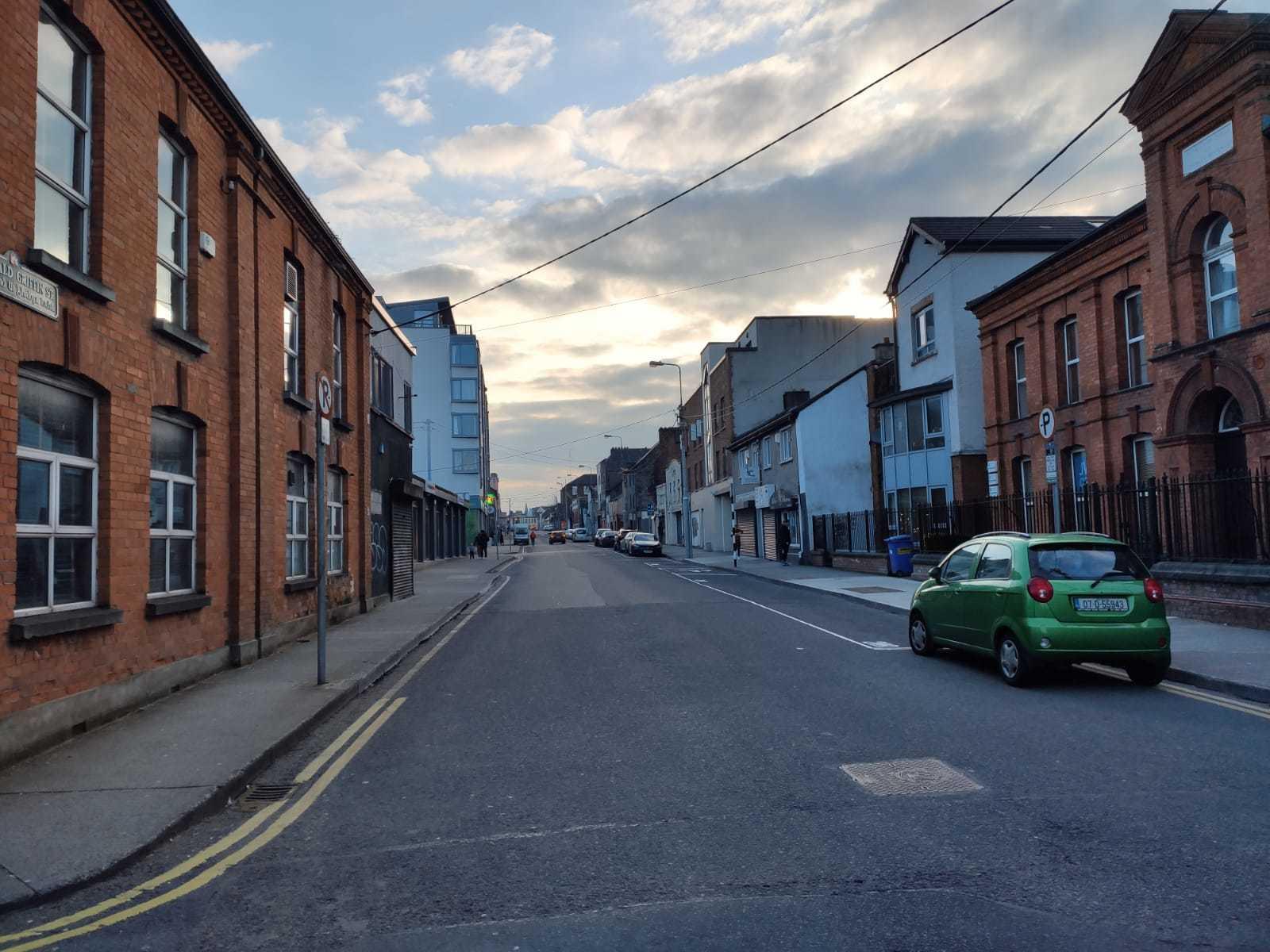 Enquanto ia ao mercado, Gustavo aproveitou para tirar fotos de ruas vazias em Limerick, na Irlanda. (Foto: Arquivo Pessoal/Gustavo Zampieri)