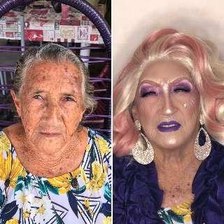 Entediados, Zyan transforma avó de 86 anos em drag queen
