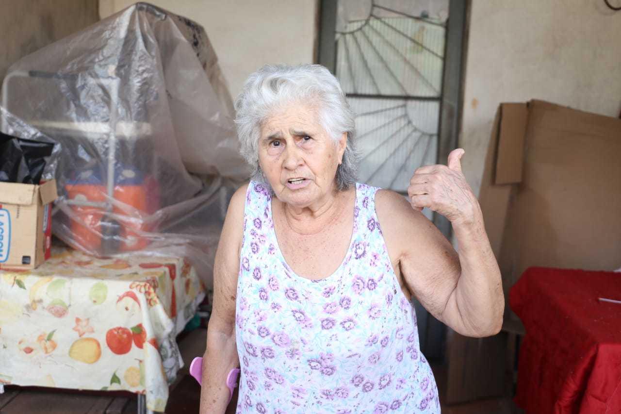 Dona de casa Neusa Martins, de 75 anos (Foto: Paulo Francis)