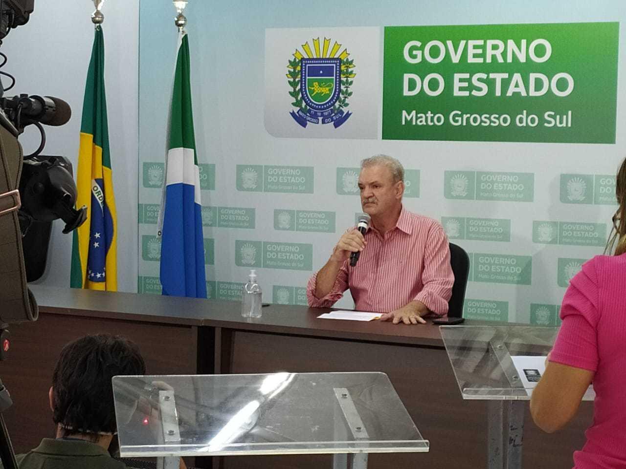 Secretário de Estado de Saúde, Geraldo Resende, confirmou primeiro óbito em MS nesta tarde (Foto: Liniker Ribeiro)