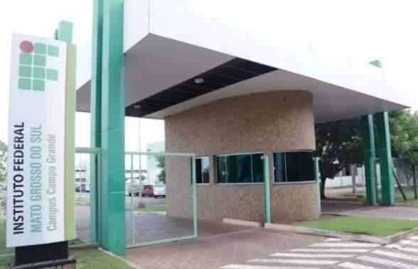 Fachada do campus do IFMS em Campo Grande. (Foto: Divulgação/IFMS)