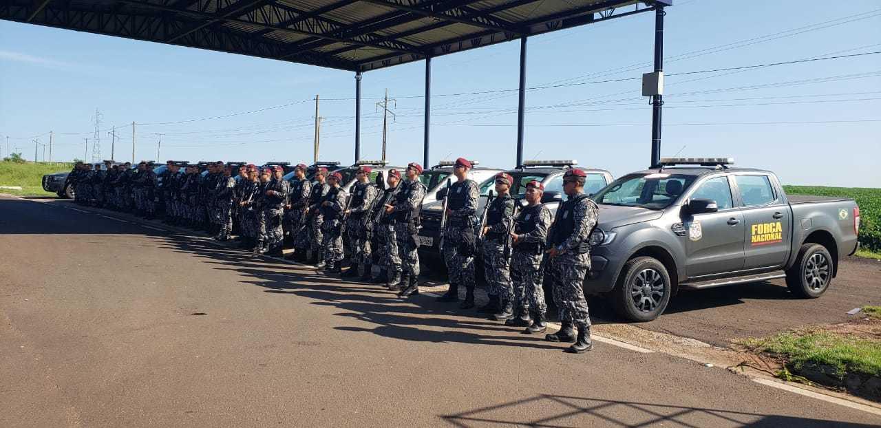 Integrantes da Força Nacional de Segurança, que vão atuar também contra pandemia. (Foto: Arquivo)