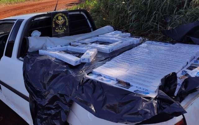 Contrabandista é perseguido e preso com mais de 1,7 mil pacotes de cigarros