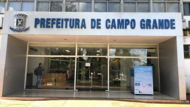 Sede da Prefeitura de Campo Grande, na Afonso Pena (Foto: Campo Grande News/Arquivo)