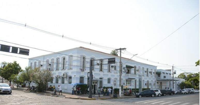 Santa Casa de Corumbá onde o paciente está internado. (Foto: Diário Corumbaense)