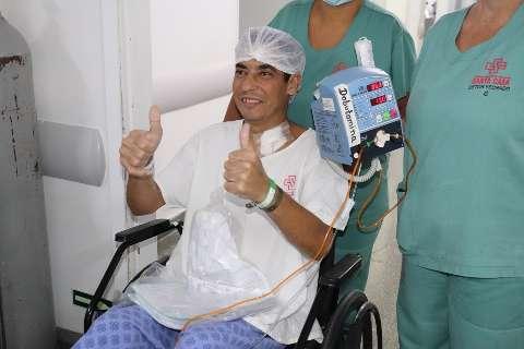 No 1º transplante na Santa Casa após 7 anos, Emerson ganhou coração novo