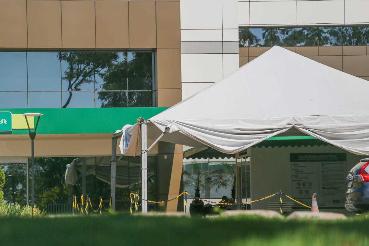 Paciente ficou internada no Hospital da Unimed, em Campo Grande. (Foto: Marcos Maluf)