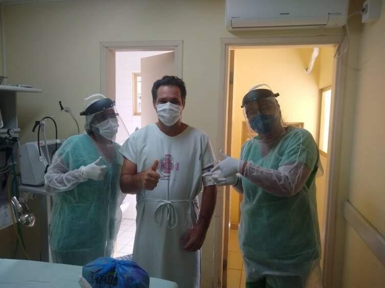 Paciente apresentou melhora já no primeiro dia de tratamento. (Foto: Reproduçã/Diário Corumbaense)