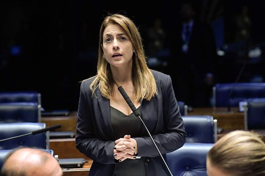 Senadora Soraya Thronicke (PSL), durante sessão (Foto: Roque de Sá/Agência Senado)