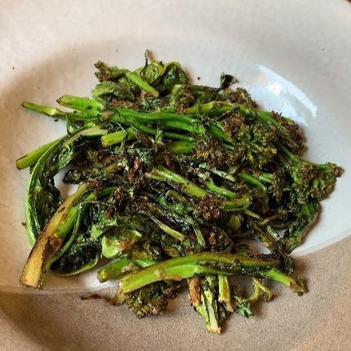 Brócolis no alho.