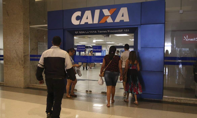 Agência bancária da Caixa, um dos bancos onde podem ser feitos saques. (Foto: Agência Brasil)