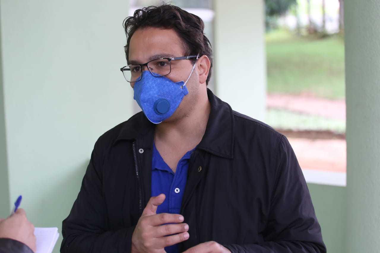 Secretário de Planejamento e Finanças, Pedro Pedrossian Neto, durante entrevista (Foto: Marcos Maluf)