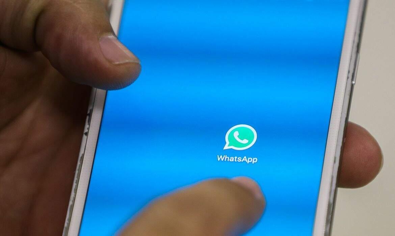 Ícone do WhatsApp em celular. (Foto: Marcelo Camargo/AgênciaBrasil)
