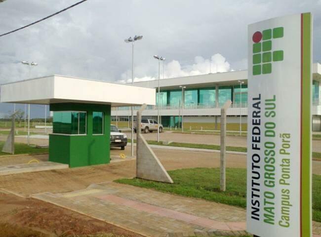 Unidade do IFMS em Ponta Porã. (Foto: Divulgação)