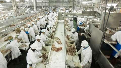 Como aglomerar é rotina em frigoríficos, trabalhadores querem reduzir produção