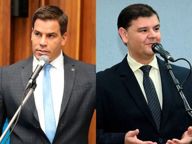 O deputado estadual, Renan Contar, e o vereador Vinícius Siquera (Foto: Divulgação/ALMS/Câmara de Vereadores)