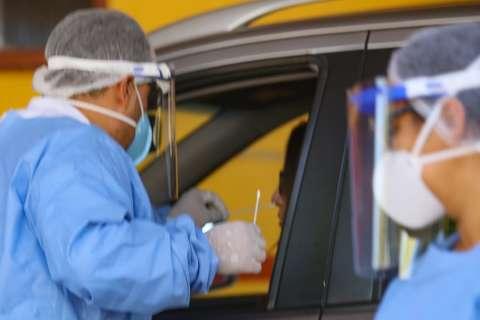 Drive-thru de Dourados dobra número de testes diários para novo coronavírus