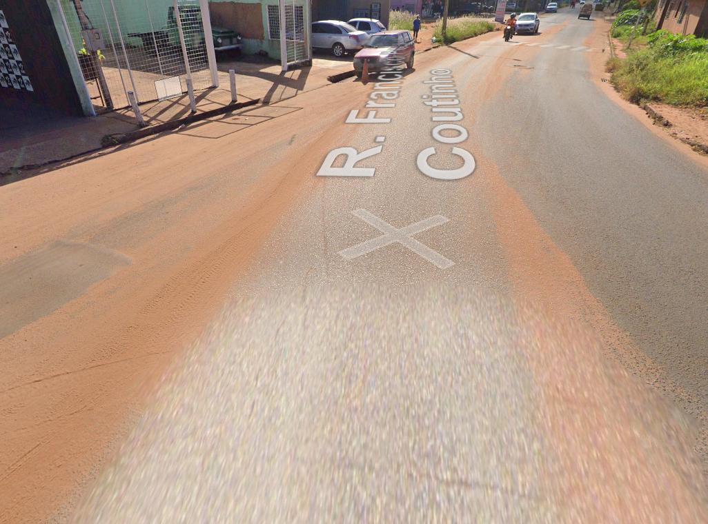 Cruzamento da Rua Francisco Pereira Coutinho com a Avenida Gualter Barbosa, no Bairro Nova Lima (Foto: Street View)