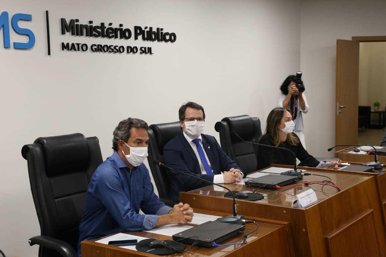 Prefeito debate com promotores do MPE volta de aulas presenciais (Foto: Arquivo/Paulo Francis)