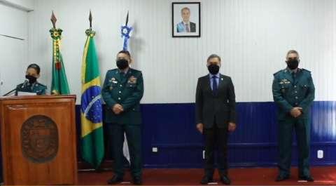 """""""Com honra e proteção de Deus"""", ex-diretor do DOF assume comando da PM"""
