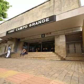"""Página de cinema """"bomba"""" com postagem sobre Cine Campo Grande"""