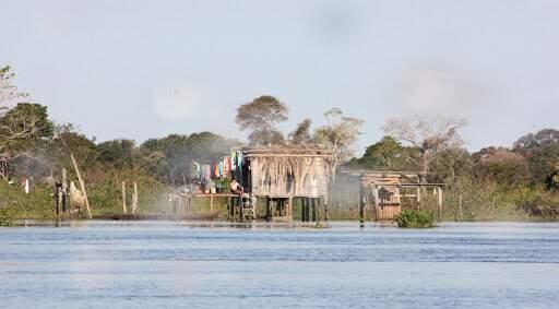 Rio Paraguai-Mirim, localizado em Corumbá. (Foto: Sílvio Andrade)