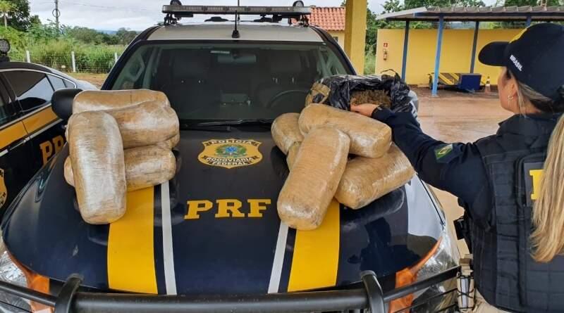 Pacotes de supermaconha encontrados pelos policiais. (Foto: Divulgação)