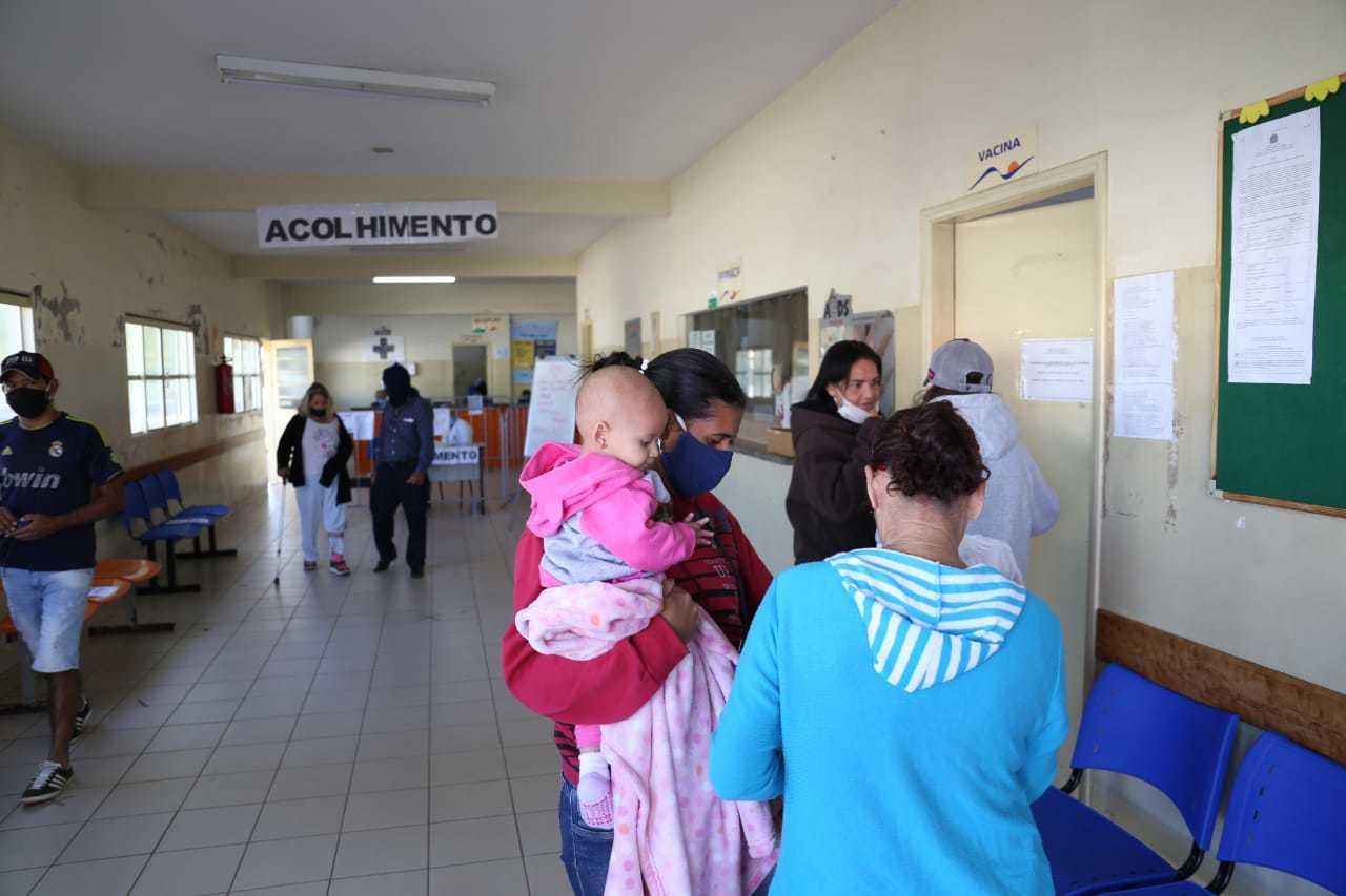 Vacinação na CRF do Tiradentes, em Campo Grande (Foto: Paulo Francis)