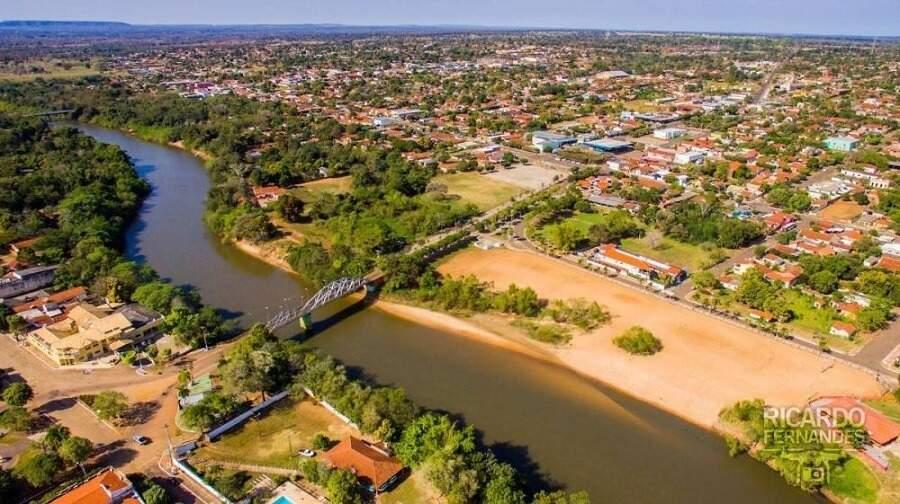 Vista aérea de Anastácio. (Foto: Correio do MS)