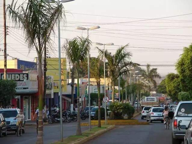 Centro de Rio Brilhante. (Foto: Divulgação)