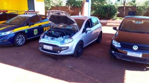 Dois são presos na BR-163 com veículo furtado em São Paulo