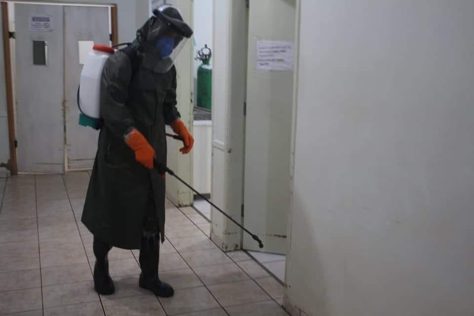 Unidade de saúde de Jardim passa por descontaminação (Foto: Reprodução/Facebook)