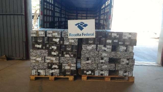 Receita Federal apreende 2,2 toneladas de narguilé de origem estrangeira
