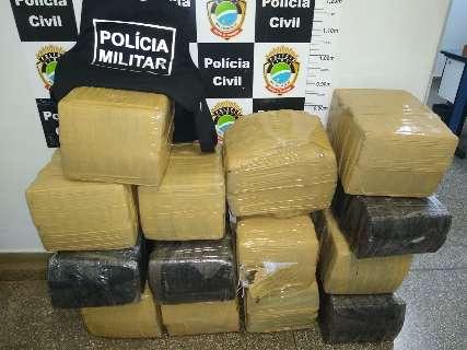 Em operação, traficante é preso com 317 quilos de maconha que iriam para SC