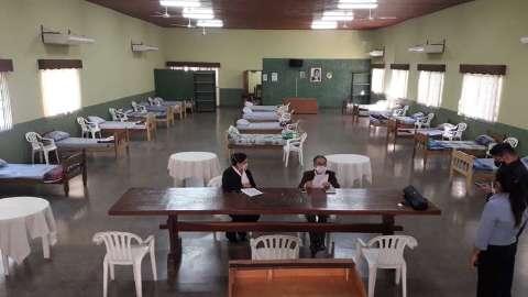 Albergue em cidade da fronteira vai receber paraguaios para quarentena