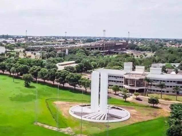 Vista aérea da UFMS em Campo Grande. (Foto: Divulgação)