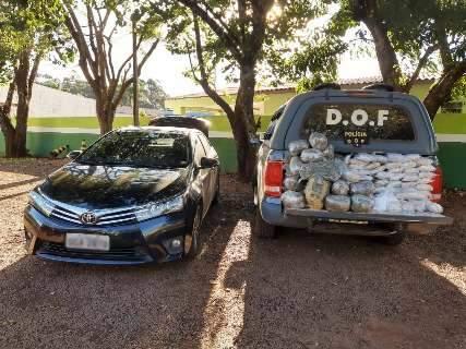 Dupla é presa em depósito de drogas com 58 quilos de cocaína, pasta base e skunk
