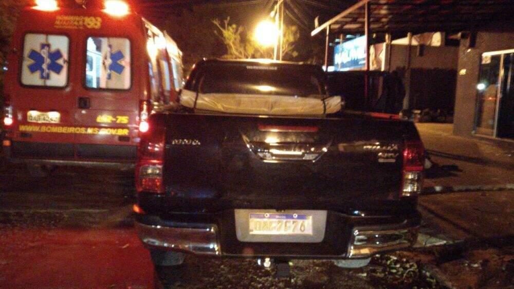 Bombeiros chegaram a ser acionados, mas vítima não resistiu e morreu no local. (Foto: Ponta Porã News)