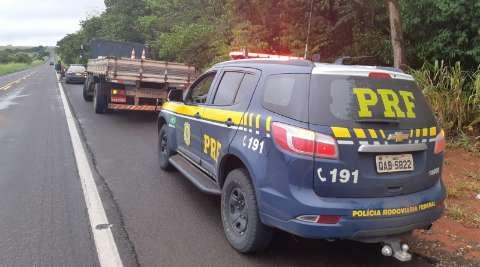 PRF apreende 1,2 tonelada de maconha em fundo falso de caminhão na BR-267