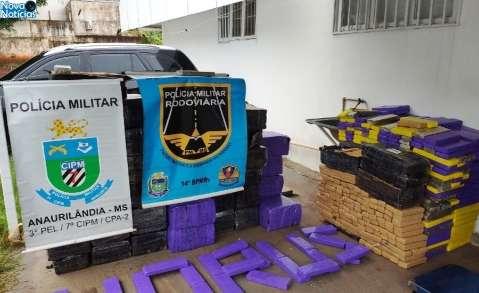 Polícia apreende 1,7 tonelada de maconha dentro de caminhão de mudança