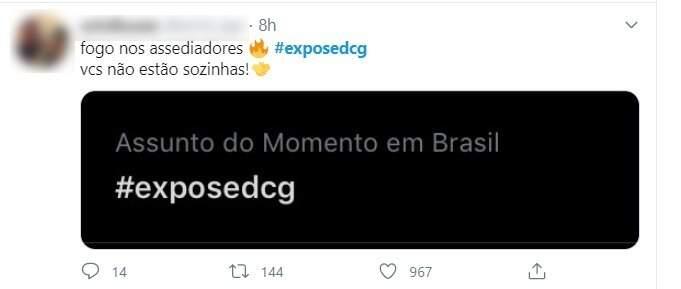 Postagem comenta quando a thread chegou aos trending topics do Brasil durante a noite (Imagem: Reprodução)