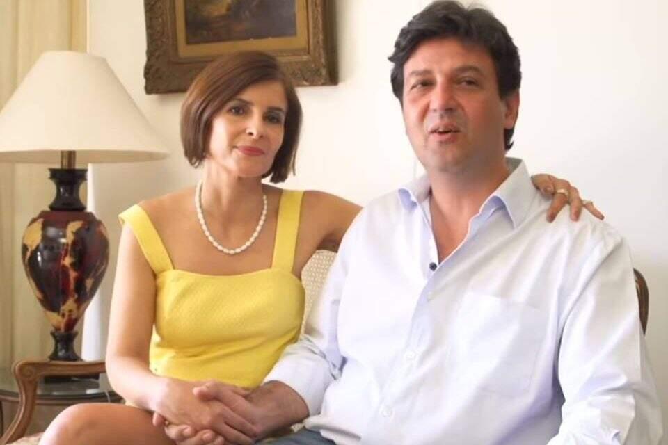Terezinha ao lado do marido, o ex-ministro Luís Henrique Mandetta. (Foto: Reprodução)