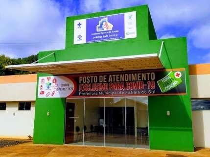 Com 143 casos positivos, Fátima do Sul é a terceira do MS em incidência da covid