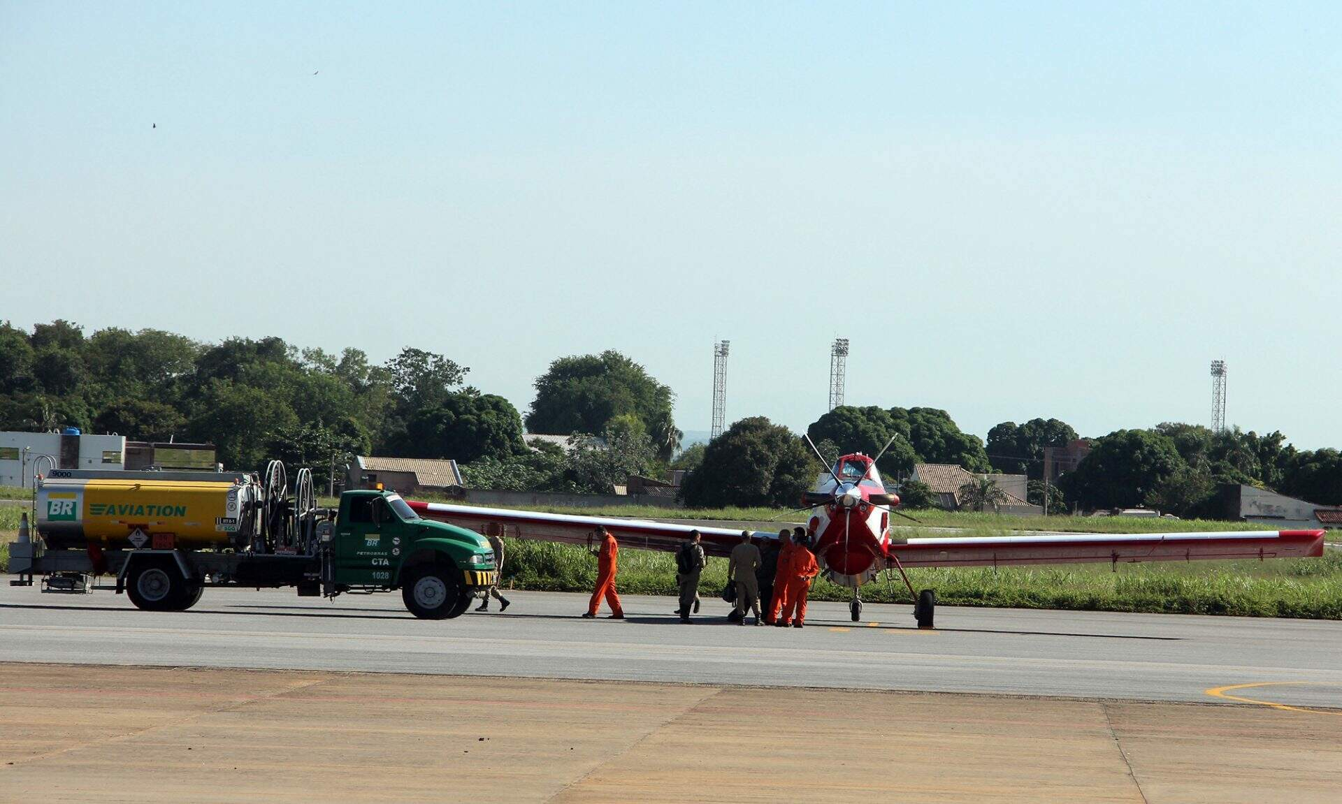 Aeronave vai ajudar a combater os incêndios no Pantanal (Divulgação)
