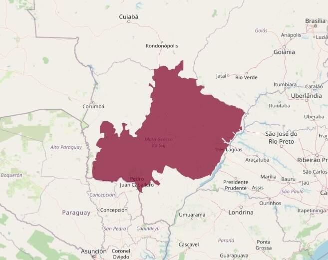 Cerrado se esparrama por dois terços do território sul-mato-grossense (Foto: Reprodução/Google)