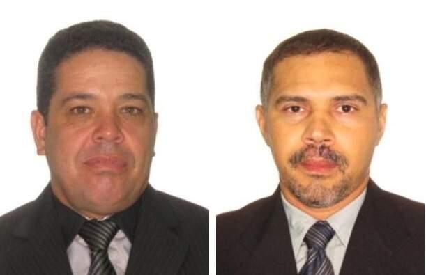 Jorge, à esquerda, e Antonio, à direita, os policiais mortos com tiro na nunca em viatura. (Foto: Divulgação)