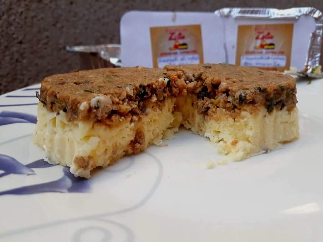 Escondidinho da Vovó, feito com carne moída, creme de mandioca e queijo. (Foto: Alana Portela)